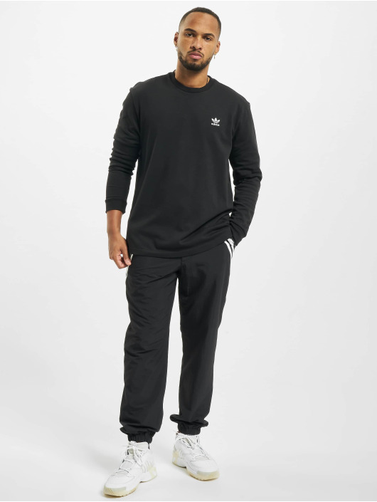 adidas Originals Tričká dlhý rukáv Back And Front Trefoil èierna