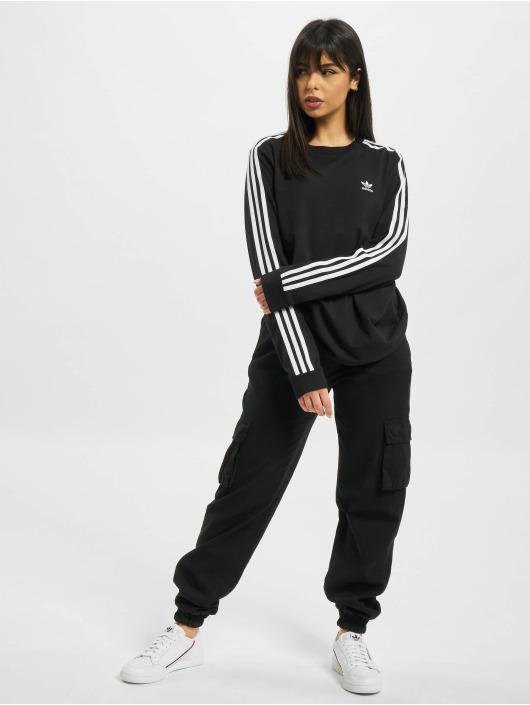 adidas Originals Tričká dlhý rukáv 3 Stripe èierna
