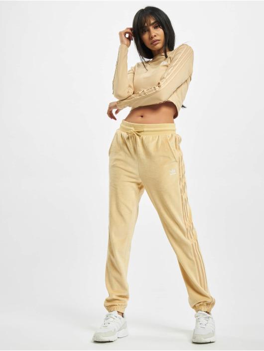 adidas Originals Tričká dlhý rukáv Crop béžová