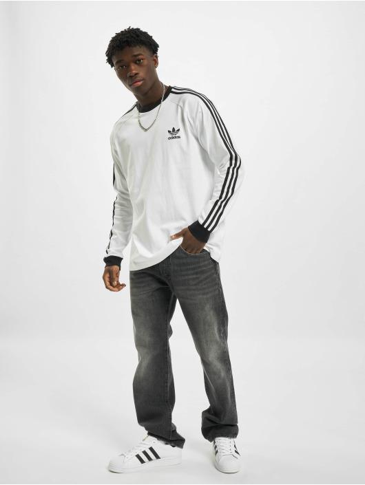 adidas Originals Tričká dlhý rukáv 3-Stripes biela