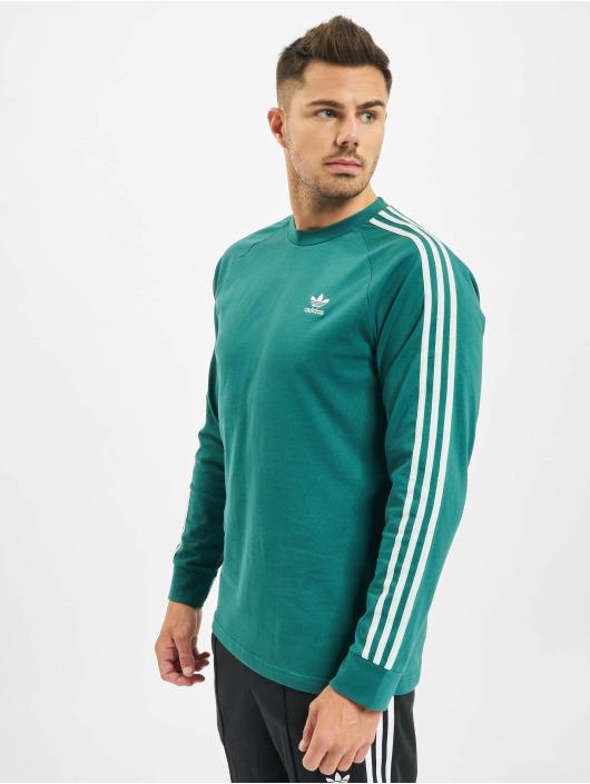 adidas Originals Tričká dlhý rukáv 3-Stripes zelená