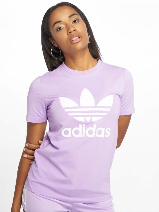 adidas Originals Tričká Trefoil fialová