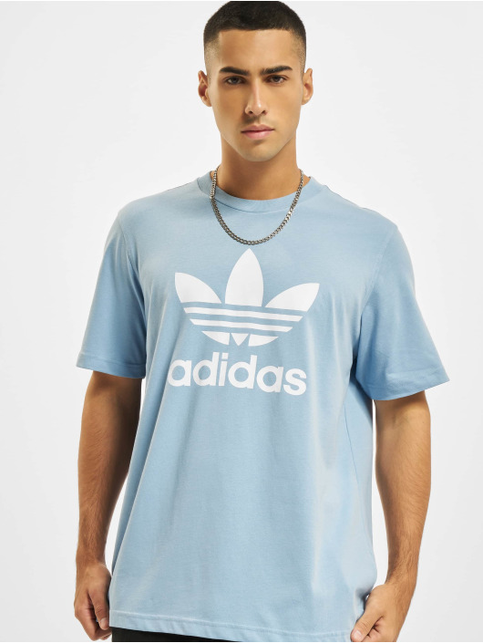adidas Originals Tričká Trefoil modrá