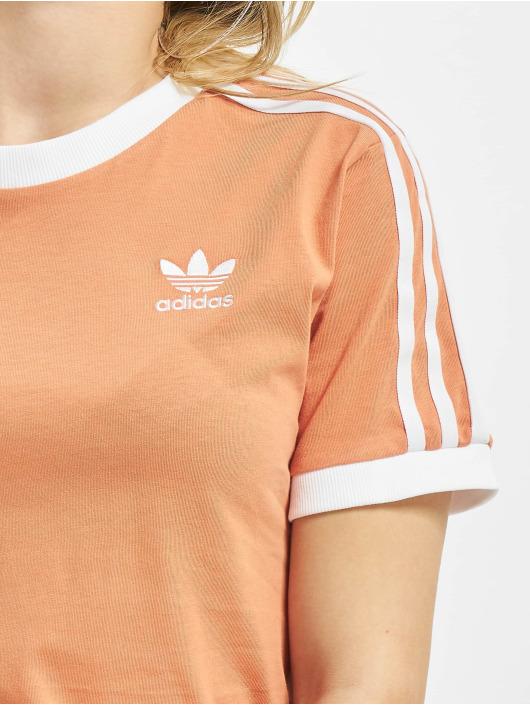 adidas Originals Tričká 3 Stripes oranžová