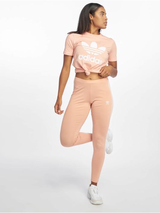 adidas originals Tričká Trefoil ružová