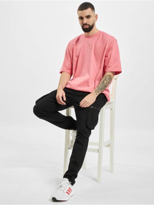 adidas Originals Tričká Rib Detail ružová