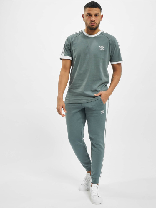 adidas Originals Trika 3-Stripes modrý