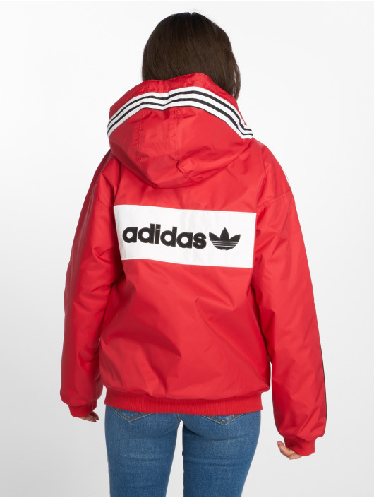 discount coupon codes huge inventory Adidas Originals Sst Stadion Jacket Real Red