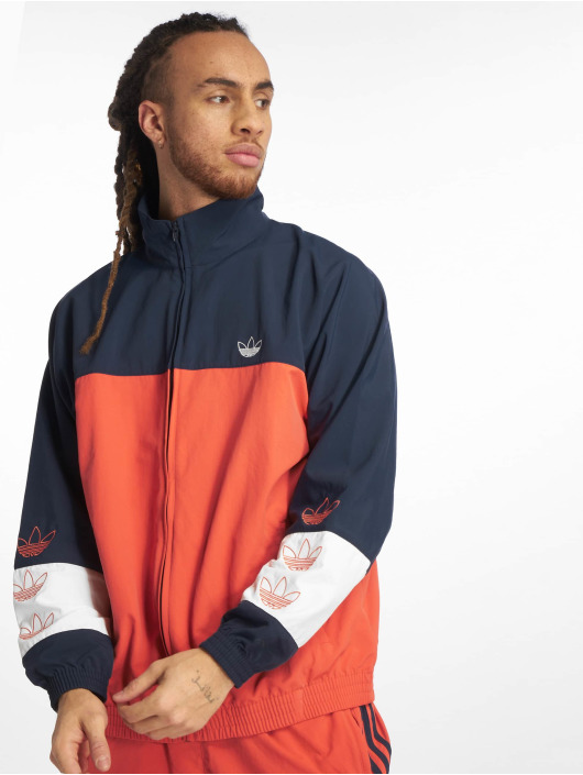 6ef2abf7ed adidas originals   Blocked Warm Up orange Homme Veste mi-saison ...