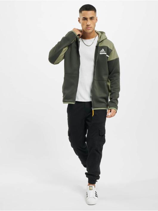 adidas Originals Vetoketjuhupparit ZNE Aerordy oliivi