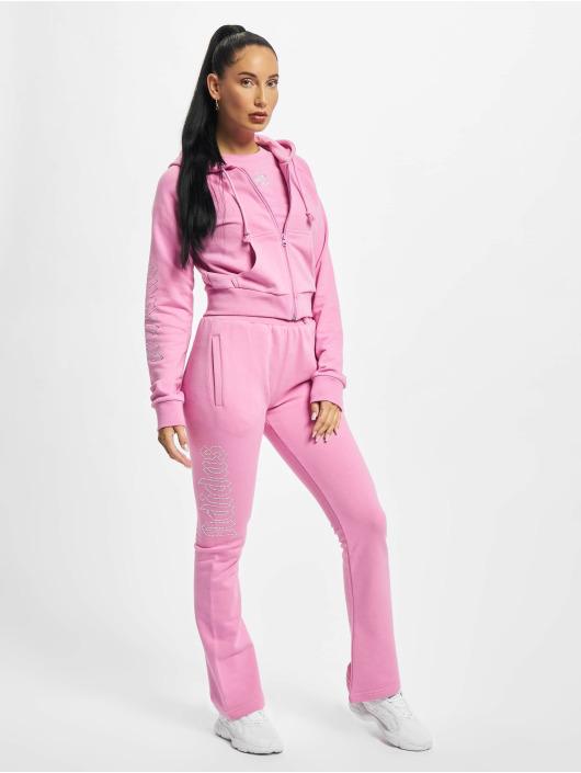 adidas Originals Vetoketjuhupparit Cropped vaaleanpunainen