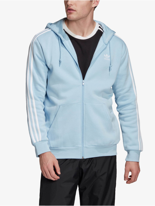 adidas Originals Zip Hoodie 3-Stripes Clesky blå