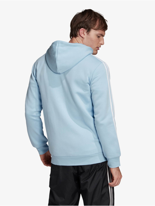 adidas Originals Zip Hoodie 3-Stripes Clesky blau