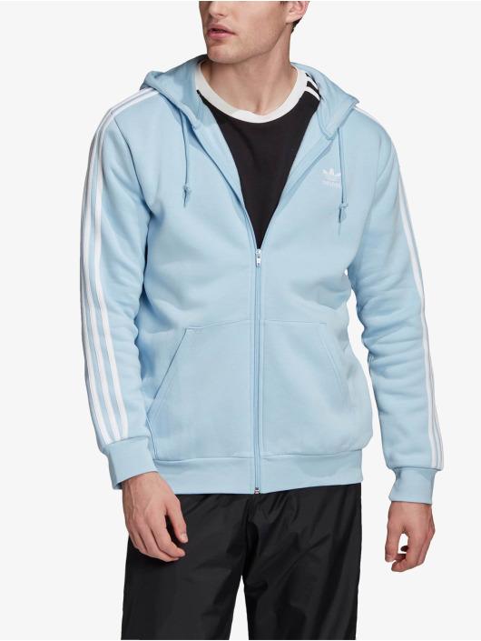 adidas Originals Zip Hoodie 3-Stripes Clesky niebieski