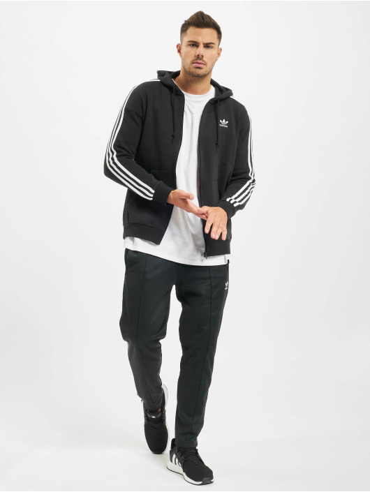 adidas Originals Zip Hoodie 3-Stripes Full schwarz