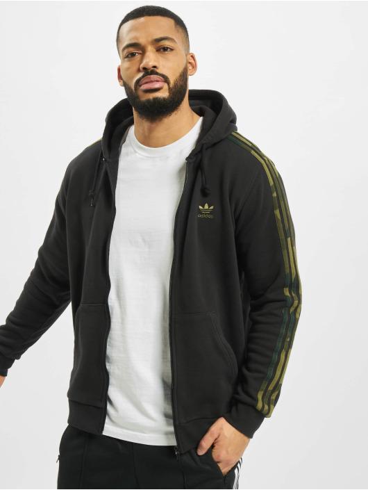 adidas Originals Zip Hoodie Camo Full schwarz