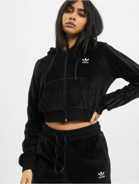 adidas Originals Zip Hoodie Crop Full schwarz