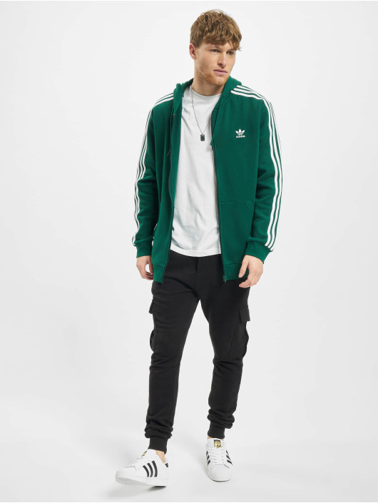 adidas Originals Zip Hoodie 3-Stripes zelená