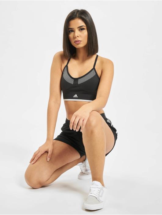 adidas Performance Biustonosz sportowy All Me Primeknit FLW czarny