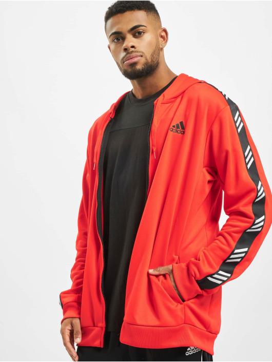 adidas Performance Bluzy z kapturem PM czerwony