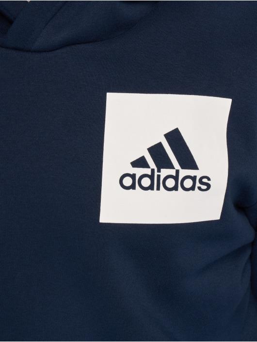 adidas Performance Bluzy z kapturem ESS Logo niebieski