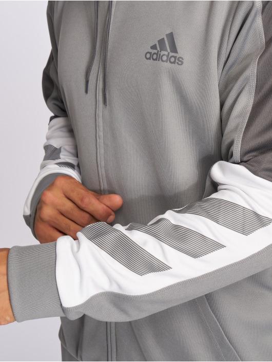 adidas Performance Hoodies con zip ACT grigio