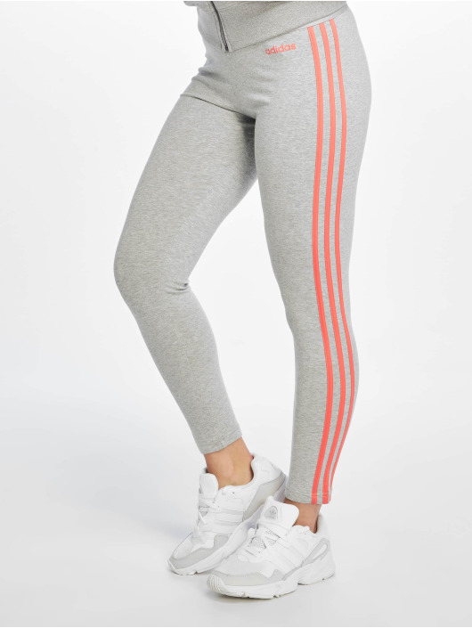 adidas Performance Legging Essentials 3 Stripes grau