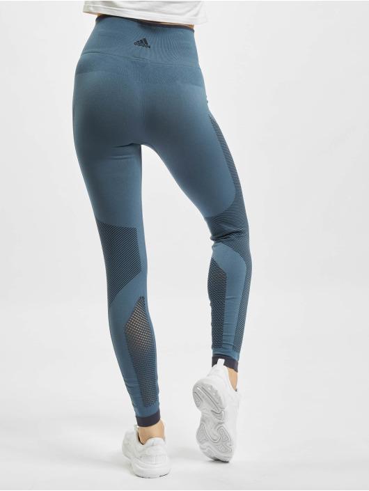 adidas Performance Leggings/Treggings Belive This Primeknit FLW niebieski