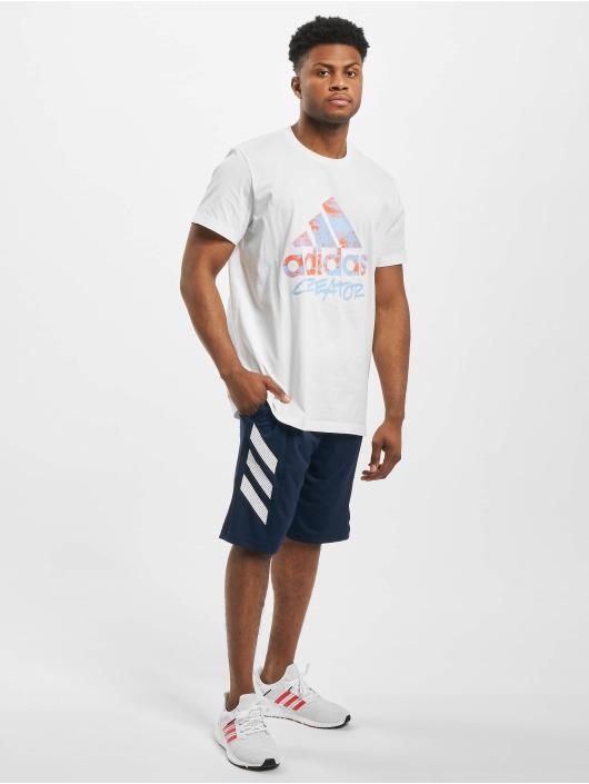 adidas Performance Shorts SPT 3 Stripes blau
