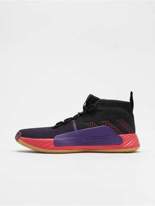 adidas Dame 5 Basketball Shoes Core BlackSho RedAct Purple