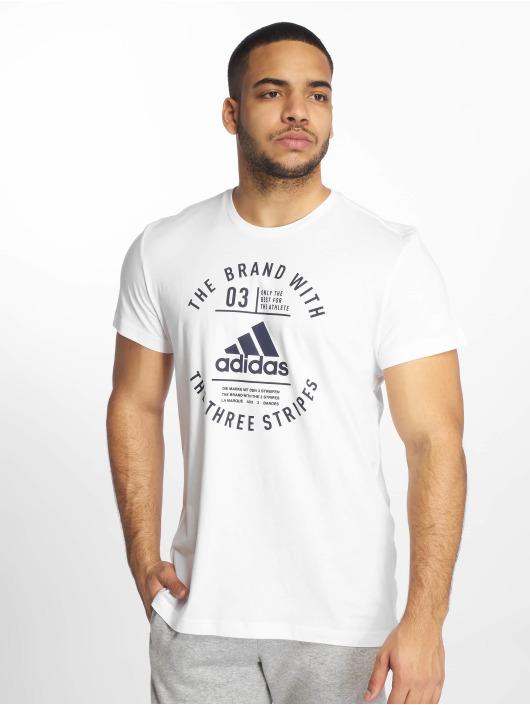adidas Performance Sportshirts Emblem bialy