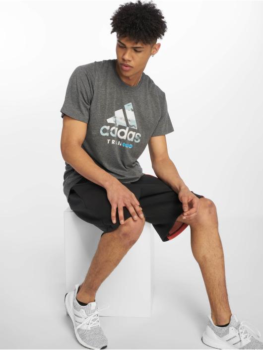 adidas Performance Sportshirts Logo czarny