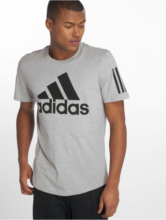adidas Performance Sid Logo T Shirt Medium Grey Heather