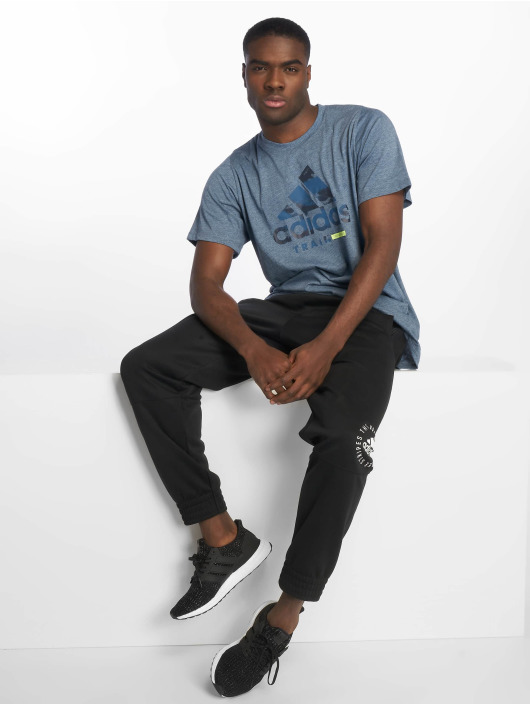 adidas Performance Sportshirts Logo niebieski