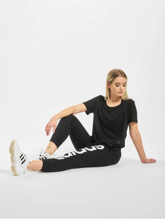 adidas Performance Sportshirts Burnout schwarz