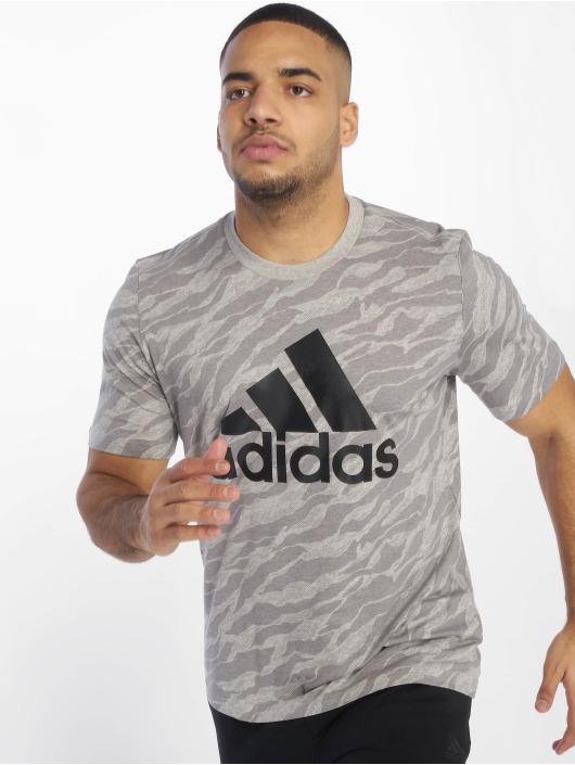 adidas Performance Sportshirts ESS AOP szary