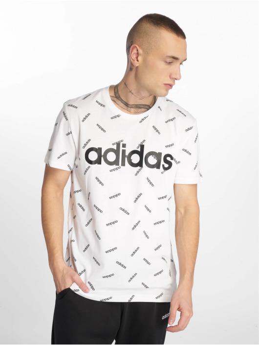 adidas Performance Sportshirts AOP weiß