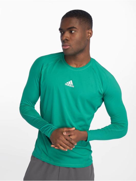 adidas Performance Sportshirts Alphaskin zielony