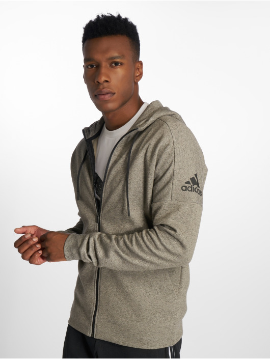 adidas Performance Sweat capuche zippé ID Stadium gris