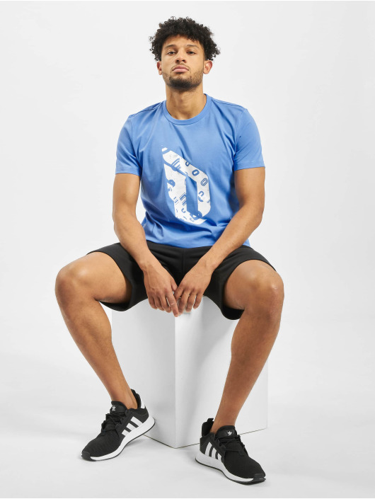 adidas Performance T-Shirt Dame Logo blau