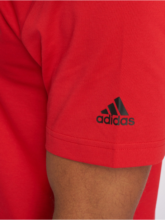 adidas Performance T-Shirt Dame Logo red