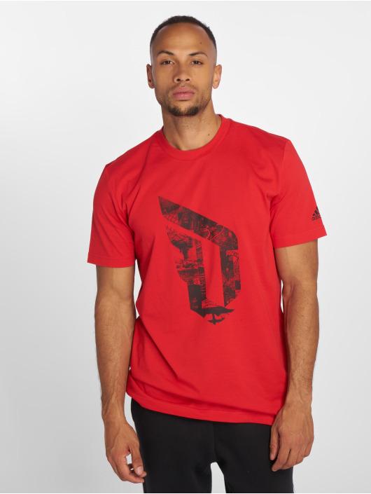 adidas Performance t-shirt Dame Logo rood