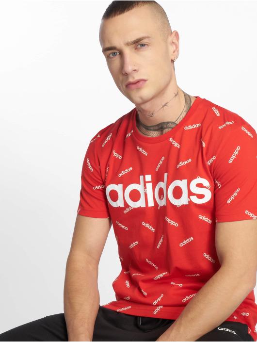 adidas Performance T-Shirt AOP rot