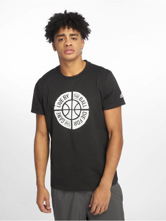 adidas Performance t-shirt Live By Ball zwart