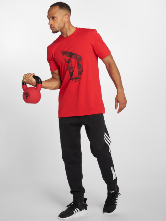adidas Performance T-Shirty Dame Logo czerwony