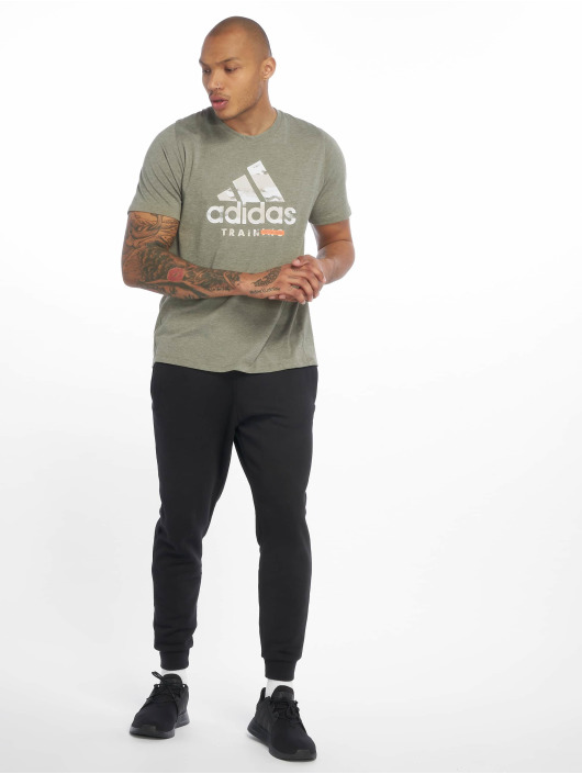 adidas Performance T-Shirty Logo khaki
