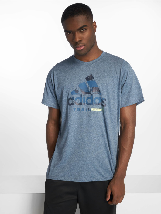 adidas Performance T-Shirty Logo niebieski