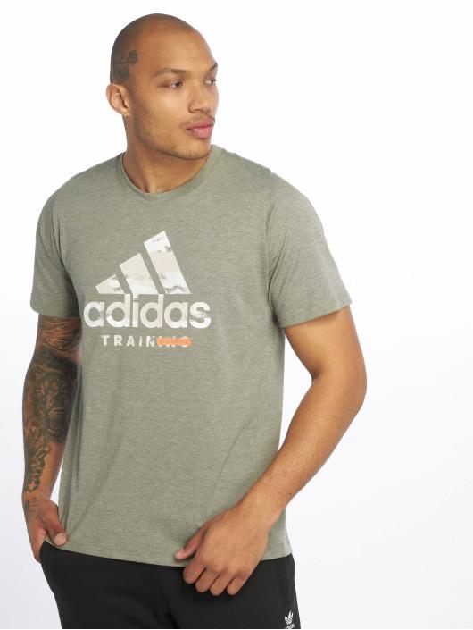adidas Performance T-skjorter Logo khaki