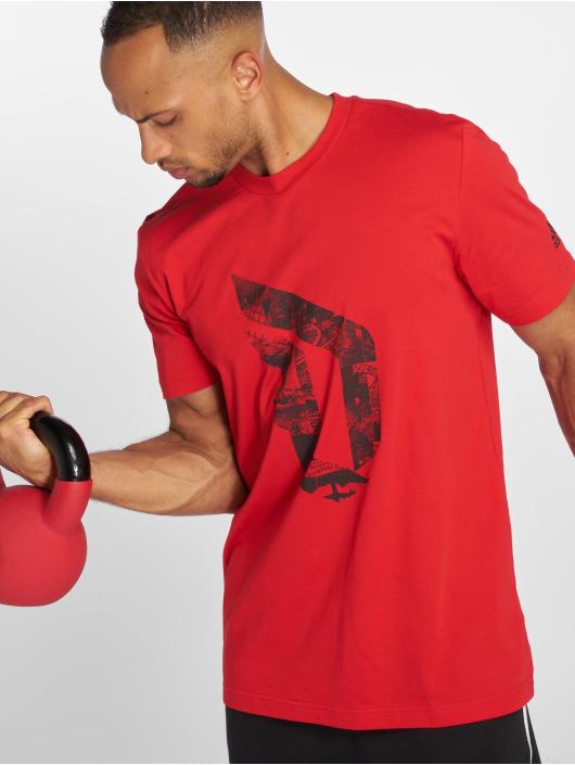 adidas Performance T-skjorter Dame Logo red