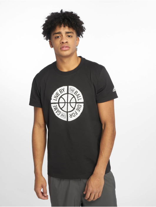adidas Performance T-skjorter Live By Ball svart
